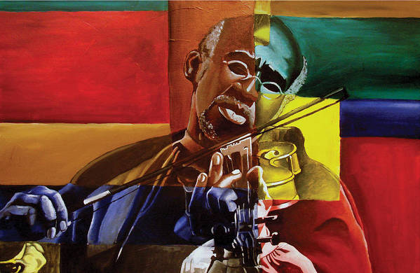 Black Art Art Print featuring the painting My Old Friend by Stacy V McClain
