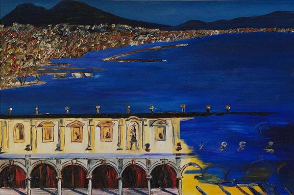 Italy Art Print featuring the painting Napoli by Gregory Allen Page
