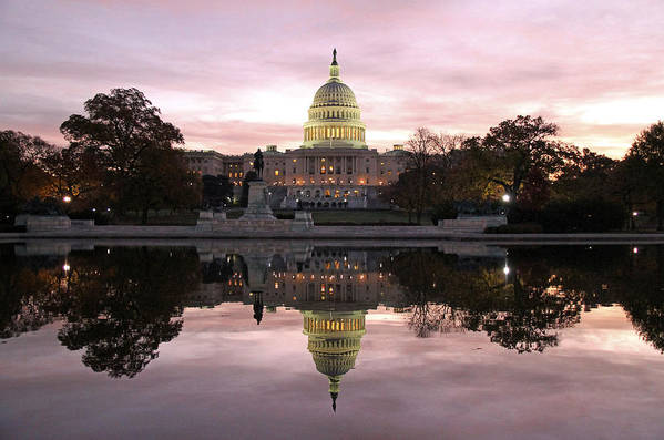 Capitol Art Print featuring the photograph Necessity Of Reflection by Mitch Cat