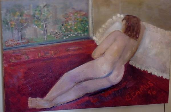 Art Art Print featuring the painting Nude- Derriere 1 by Carlos Camus