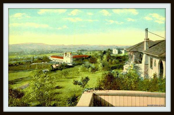 Santa Barbara Ca Art Print featuring the mixed media Old Mission And St. Anthony's College, Santa Barbara Ca, 1910 by Dwight GOSS