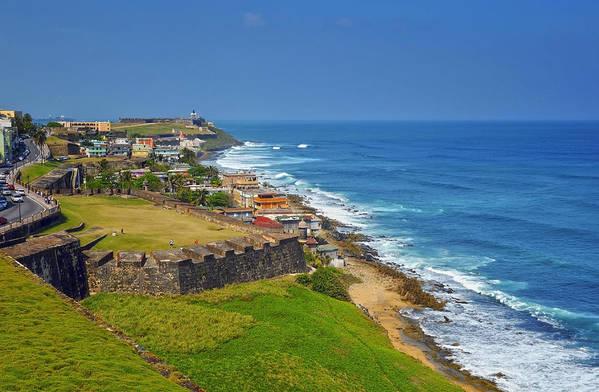 Ocean Art Print featuring the photograph Old San Juan Coastline by Stephen Anderson