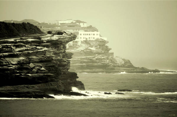 Landscapes Art Print featuring the photograph On The Rugged Cliffs by Holly Kempe