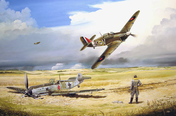 Painting Art Print featuring the painting Outgunned by Marc Stewart