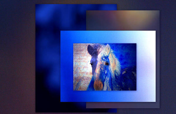 Pony Art Print featuring the photograph Painted Pony In Blue by Irma BACKELANT GALLERIES