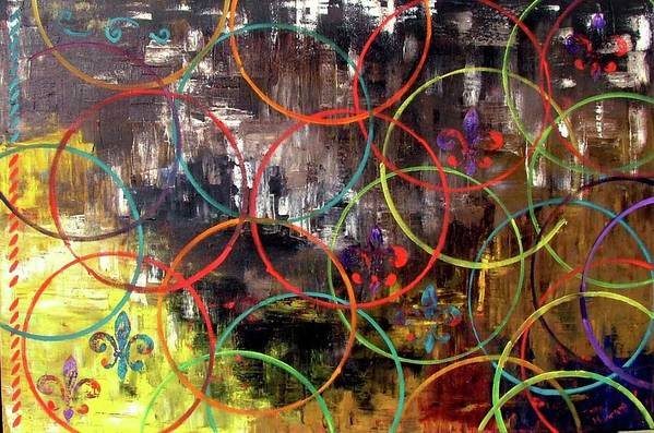 Abstract Art Print featuring the painting Paris Abstract by Inna Montano