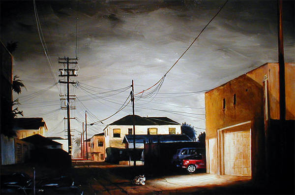 Cityscapes Art Print featuring the painting Parked In The Light by Duke Windsor