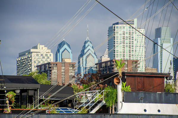 Philadelphia Art Print featuring the photograph Philadelphia From Penns Landing by Bill Cannon