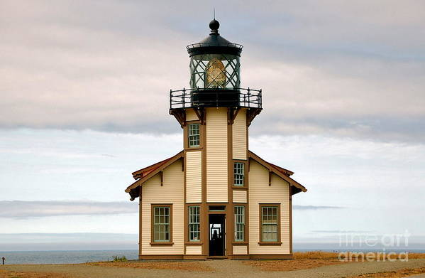 Lighthouses Art Print featuring the photograph Point Cabrillo Lighthouse by YJ Kostal