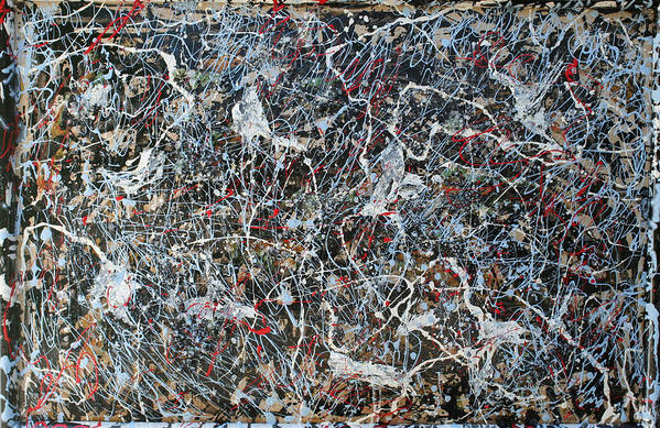 Art Print featuring the painting Pollock's Ghosts by Biagio Civale