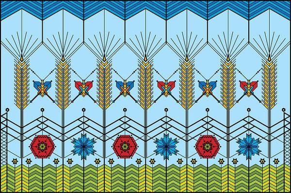 Wheat Art Print featuring the digital art Prairie Wheat by Vlasta Smola