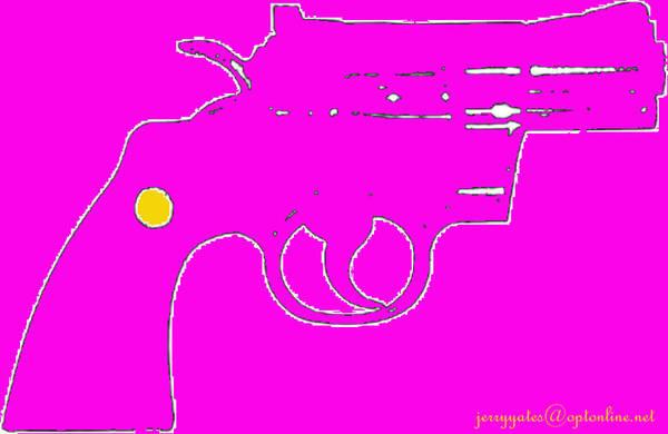Gun Art Print featuring the photograph Pretty Revolver by Gerard Yates