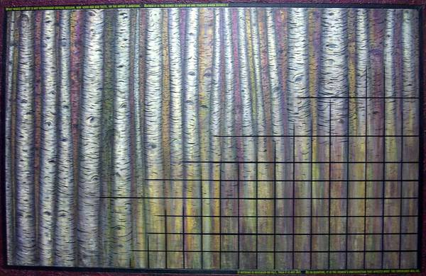 Birch Aspen Tree Quote Science Art Faces Art Print featuring the painting Quantum Edith by Sally Van Driest