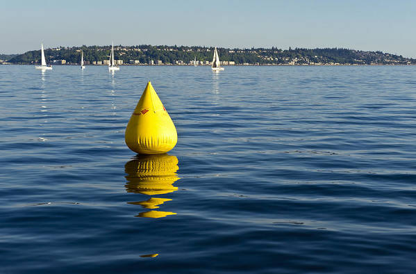 Seattle Art Print featuring the photograph Race Pylon Bouy by Tom Dowd