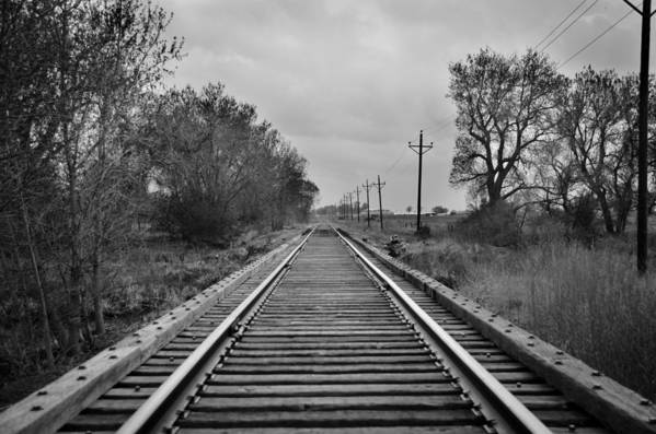 Railroad Tracks Print featuring the photograph Railroad Tracks by Matthew Angelo