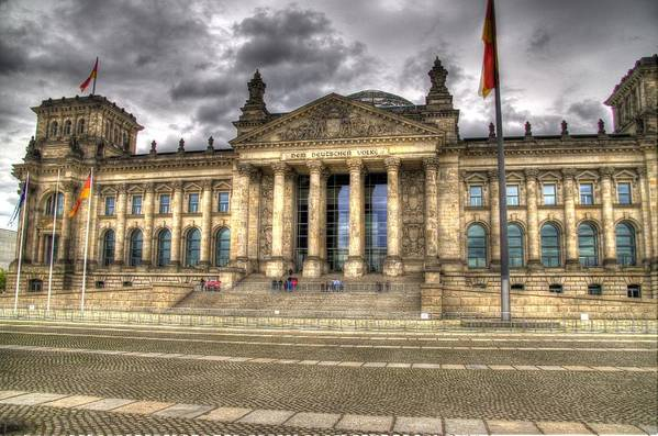 Berlin Art Print featuring the photograph Reichstag Building by Jon Berghoff