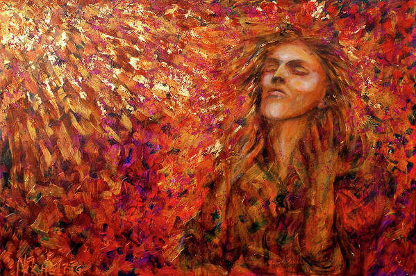 Sun Art Print featuring the painting Resonance by Nik Helbig
