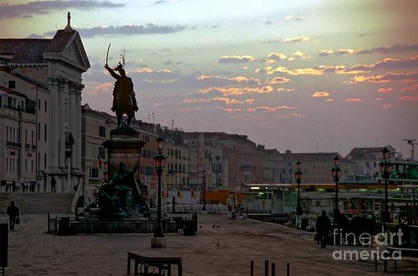 Venice Art Print featuring the photograph Riva Schiavoni In Venice In The Morning by Michael Henderson