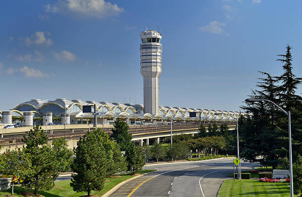 Ronal Print featuring the photograph Ronald Reagan National Airport by Brendan Reals