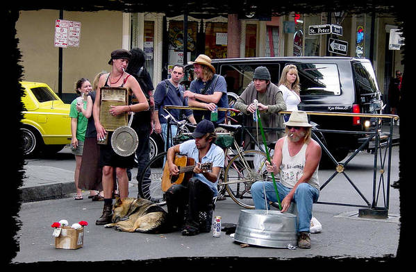 New Orleans Art Print featuring the photograph Royal Street Musicians by Linda Kish