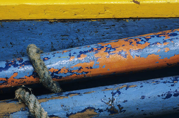 Abstract Art Print featuring the photograph Rustic Boat by Larry Dale Gordon - Printscapes