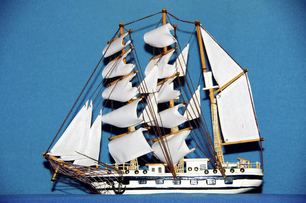Sail Art Print featuring the photograph Sail Ship by Hugh Kroetsch
