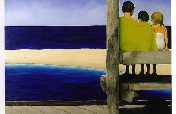 Seascape Art Print featuring the painting Secrets by Trisha Lambi