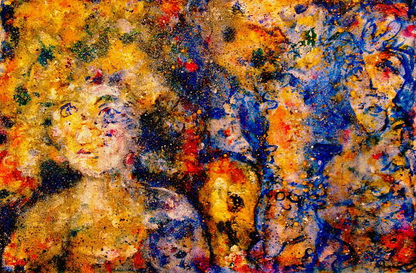 Expressionism Art Print featuring the painting Seeking Wanderers by Natalie Holland