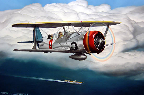 Aviation Art Print featuring the painting Shakedown Cruise by Marc Stewart