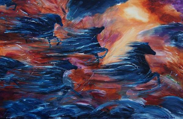 Abstract Art Print featuring the painting Sky Song by Jennifer White