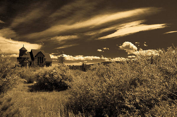 Church Art Print featuring the photograph Small Town Church by Marilyn Hunt