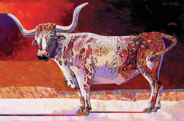 Animal Art Art Print featuring the painting Southwest Longhorn by Bob Coonts