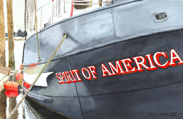 Fishing Boat Art Print featuring the painting Spirit Of America by Norton Linda