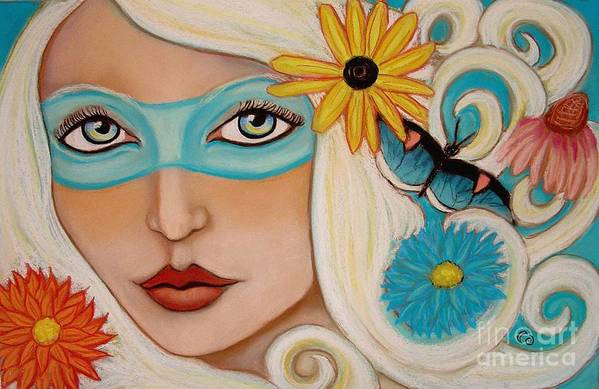 Fairy Art Print featuring the painting Spirit Of The South Wind by Tammy Mae Moon