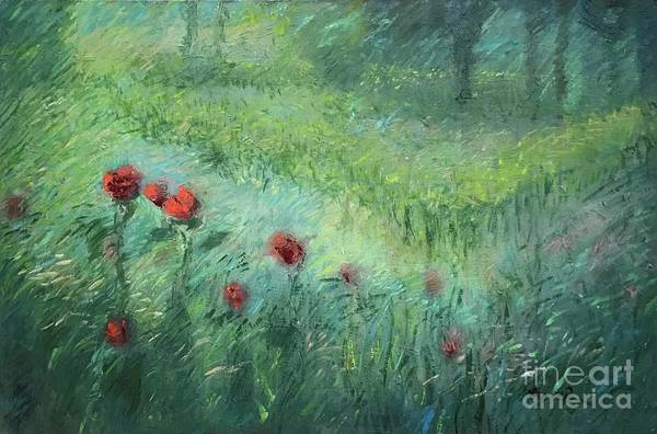 Garden Art Print featuring the painting Spring by Wen LePore