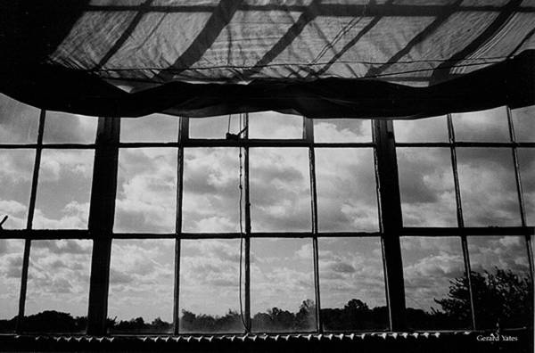 Black And White Art Print featuring the photograph Steel Window by Gerard Yates