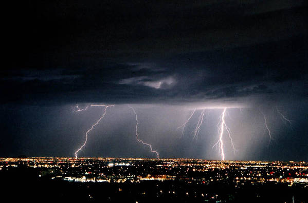 Lightning Art Print featuring the photograph Steppin' Out by Cathy Franklin