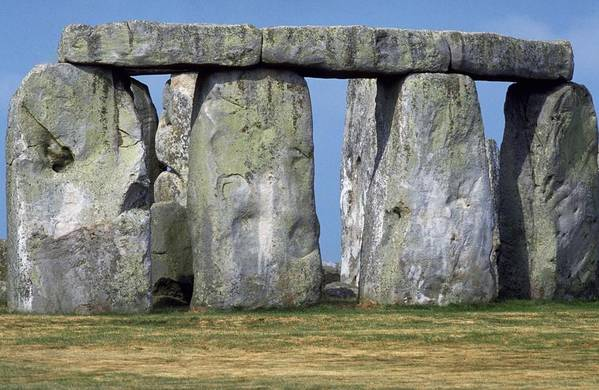 Stonehenge Amesbury In Wiltshire Of Salisbury And The Unesco World Heritage List Famous Landmark Ancient Stone A Circle Large It Get Close Up As I Visitor Centre Picture Give Feel Sense Great Size Perceived Weight Awesome Power Mystical Healing Energy Photo By Michel Guntern Travelnotes Travel Er Pics Travelpics Witlshire England Monument English Britain Clear Day Blue Sky Artwork Prehistoric Tourism Henge Grass Uk Historic Rock Mystery Landscape Old Religious Wonder Druid Standing Ruin Dramatic Art Print featuring the photograph Stonehenge by Travel Pics
