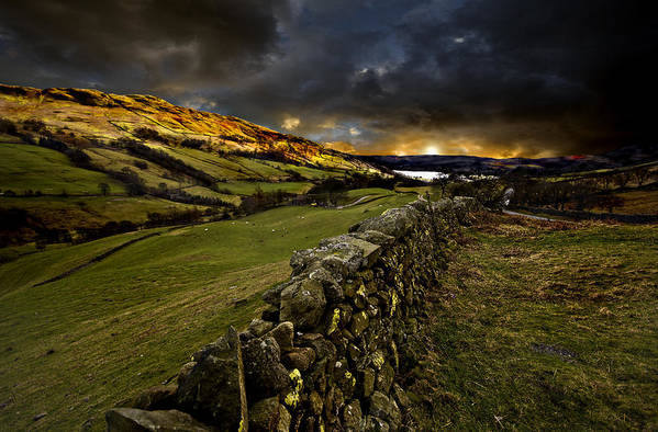 Windermere Art Print featuring the photograph Storm Over Windermere by Meirion Matthias