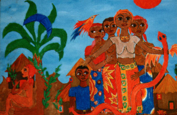 Study Art Print featuring the painting Study To Motherland A Place Of Exile by Madalena Lobao-Tello