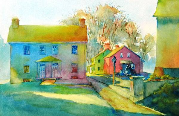 Watercolor Art Print featuring the painting Sugartown Shadows No 1 by Virgil Carter