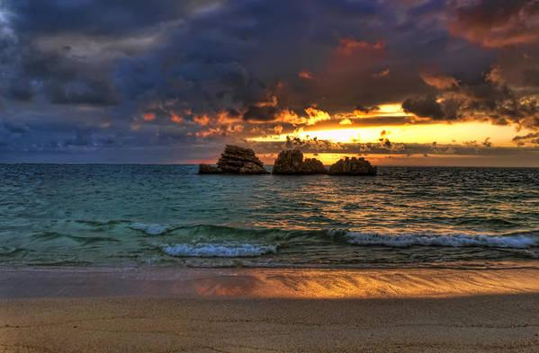 Sunset Art Print featuring the photograph Sundown by Ryan Wyckoff