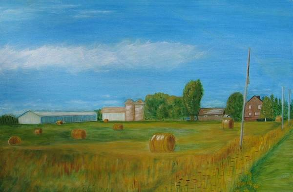 Landscape Art Print featuring the painting Sunny Day Summer by Patricia Ortman