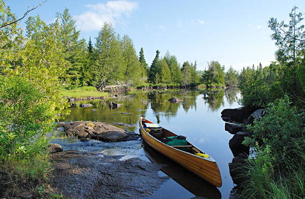 Boundary Waters Canoe Area Wilderness Art Print featuring the photograph Temperance River Portage by Larry Ricker