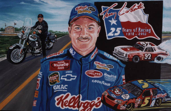 Portrait Art Print featuring the painting Terry Labonte by Diann Baggett
