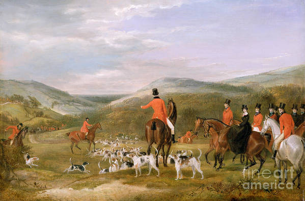 The Print featuring the painting The Berkeley Hunt by Francis Calcraft Turner