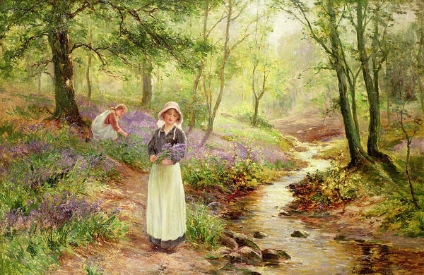 The Art Print featuring the painting The Bluebell Glade by Ernest Walbourn