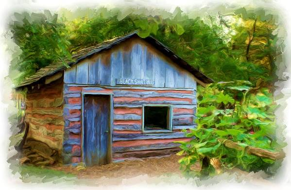 Painting Art Print featuring the photograph The Cabin by Jim Darnall
