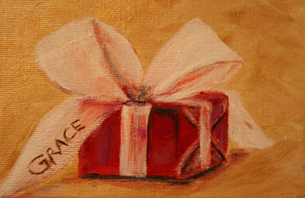Gift Art Print featuring the painting The Gift by Dyanne Parker