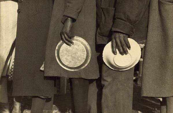 History Art Print featuring the photograph The Great Depression. African Americans by Everett